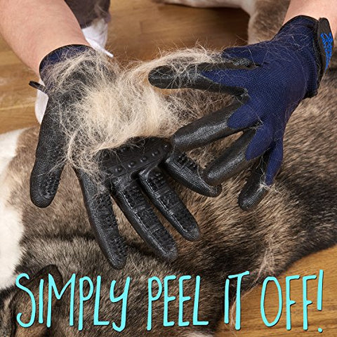 Pet Grooming Gloves and De-Shedding Brush
