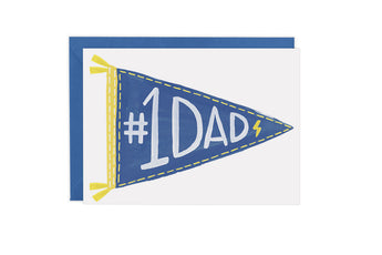 Pennant Flag #1 Dad - Card