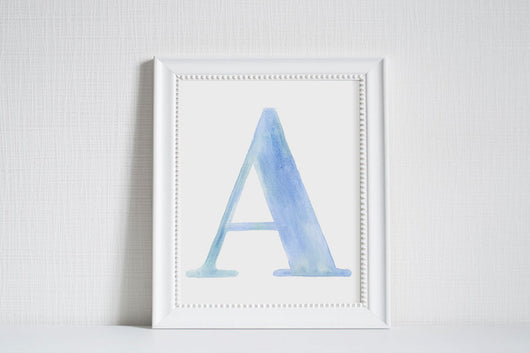 Watercolor Alphabet Letters - Art Print