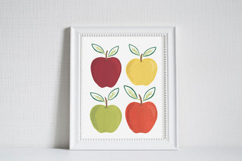 Apples - Modern Farm Garden Art Print