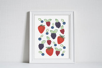 Berries - Modern Farm Garden Art Print