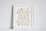 Bloom Alphabet Chart - Art Print