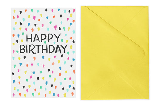 Confetti Birthday Card Lovelight Paper