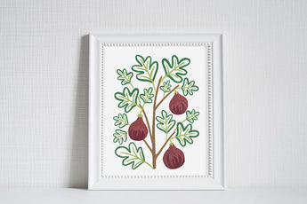 Figs - Modern Farm Garden Art Print