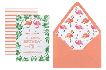 Flamingo Invitation - Customize Your Text