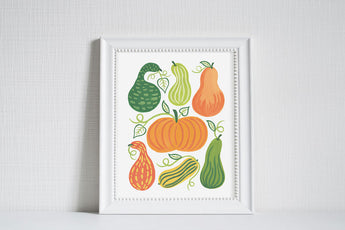 Gourds - Modern Farm Garden Art Print