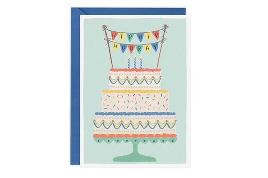 Hip Hip Hooray (Cake) - Birthday Card