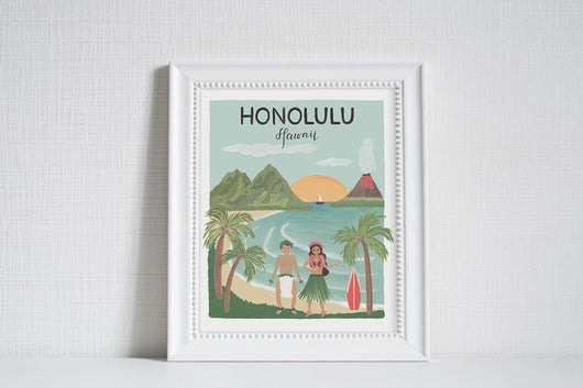 Honolulu (City Love) - Art Print