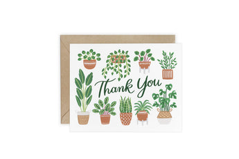 House Plants - Thank You Card