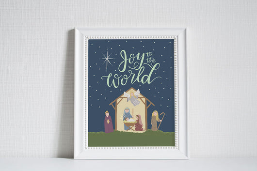 Joy to the World - Christmas Art Print