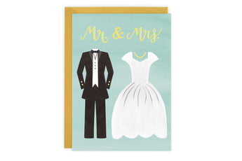 Mr. & Mrs. - Wedding Card