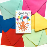Octopus Balloons - Birthday Card
