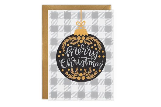 Plaid Ornament - Christmas Card