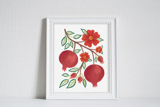 Pomegranate - Modern Farm Garden Art Print