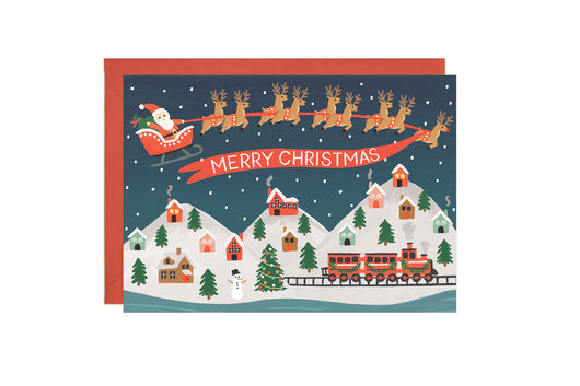 Santa's Village - Christmas Card