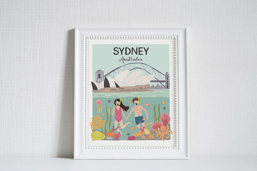 Sydney (City Love) - Art Print