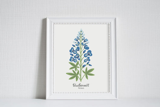 Texas Bluebonnet - State Flower Art Print