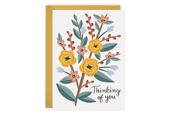 Thinking of You Flowers - Card