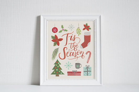 Tis the Season - Christmas Art Print