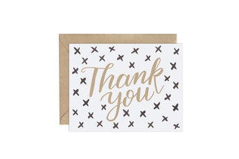 Xs (Pattern Party)- Thank You Card