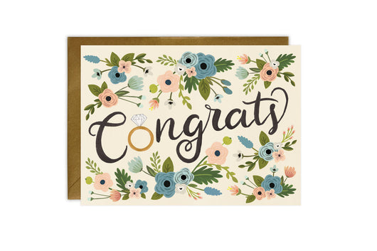 Congrats Ring - Engagement Card