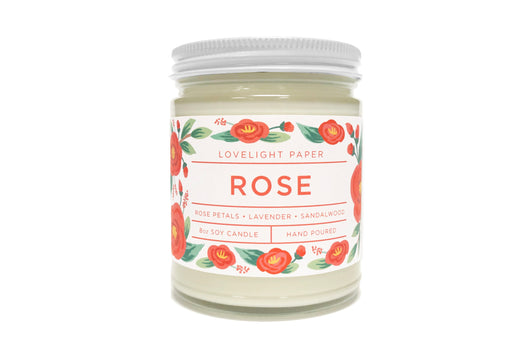 Rose - Scented Soy Candle