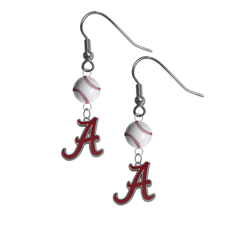 Alabama Crimson Tide NCAA Baseball Dangle Earrings