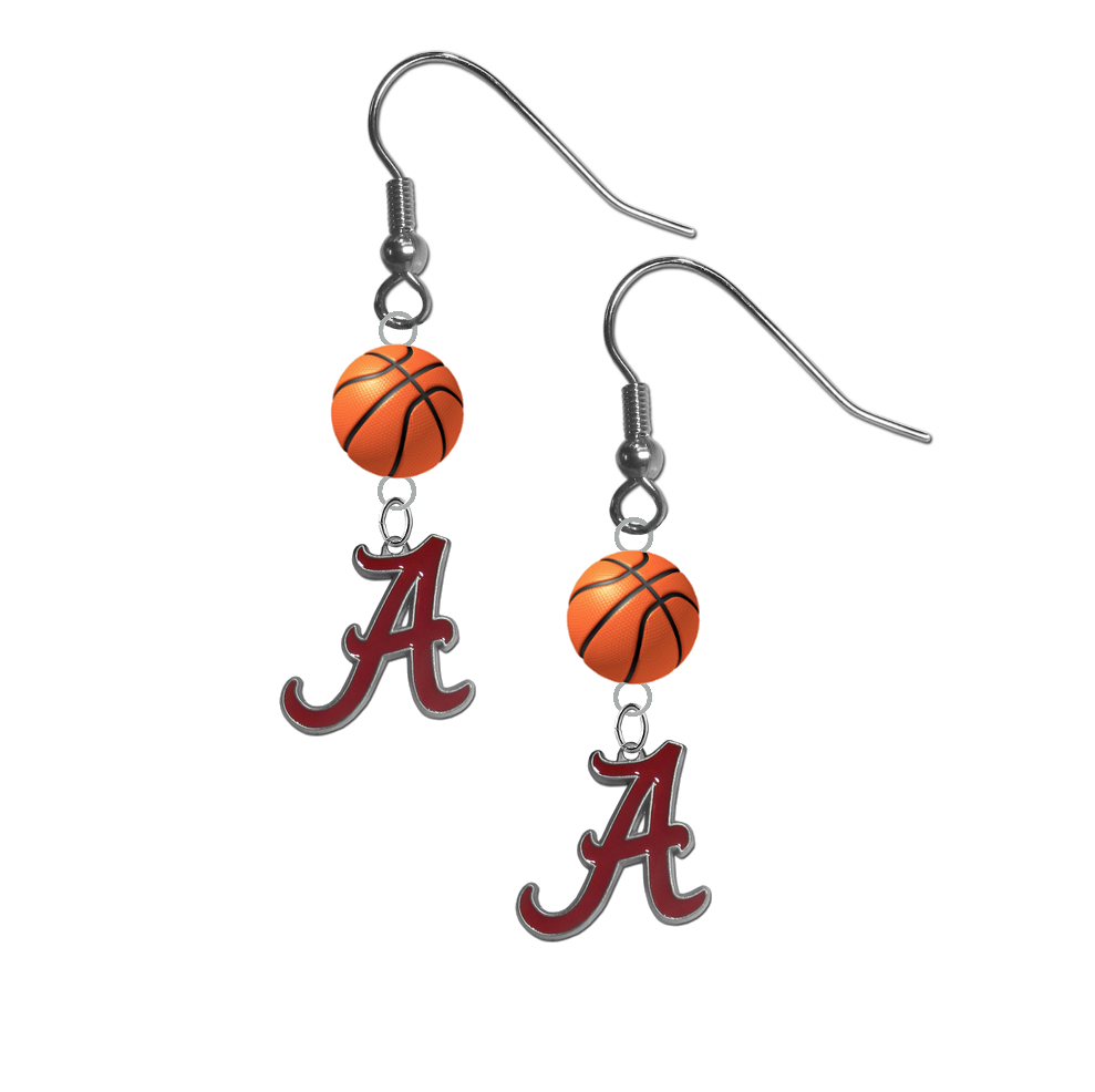 Alabama Crimson Tide NCAA Basketball Dangle Earrings