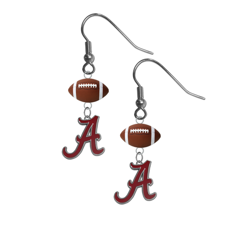 Alabama Crimson Tide NCAA Football Dangle Earrings