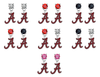 Alabama Crimson Tide NCAA Swarovski Crystal Stud Rhinestone Earrings
