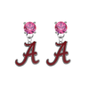 Alabama Crimson Tide PINK Swarovski Crystal Stud Rhinestone Earrings