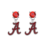 Alabama Crimson Tide RED Swarovski Crystal Stud Rhinestone Earrings
