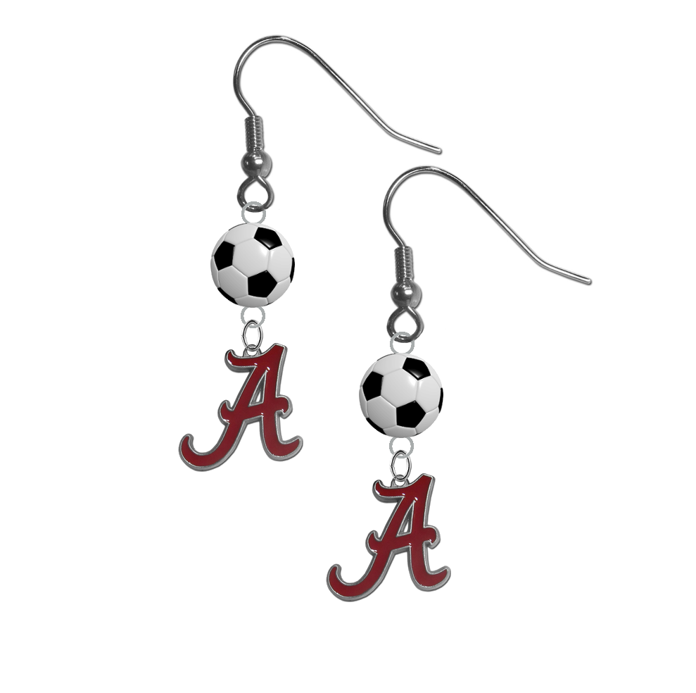 Alabama Crimson Tide NCAA Soccer Dangle Earrings