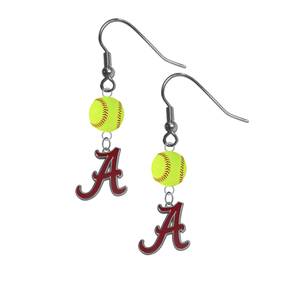 Alabama Crimson Tide NCAA Fastpitch Softball Dangle Earrings