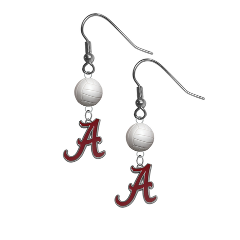 Alabama Crimson Tide NCAA Volleyball Dangle Earrings