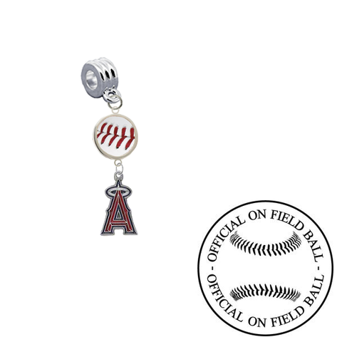 Anaheim Angels On Field Baseball Universal European Bracelet Charm (Pandora Compatible)