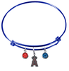 Anaheim Angels Blue MLB Expandable Wire Bangle Charm Bracelet