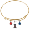Anaheim Angels Gold MLB Expandable Wire Bangle Charm Bracelet