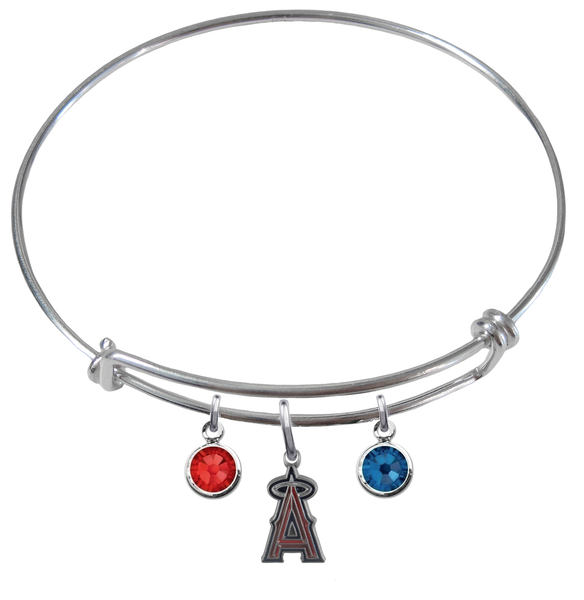 Anaheim Angels MLB Expandable Wire Bangle Charm Bracelet