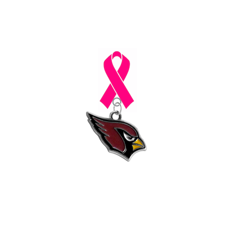 Arizona Cardinals NFL Breast Cancer Awareness / Mothers Day Pink Ribbon Lapel Pin