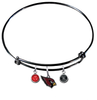 Arizona Cardinals Black Wire Charm Bangle Bracelet