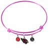 Arizona Cardinals Pink Wire Charm Bangle Bracelet