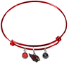 Arizona Cardinals Red Wire Charm Bangle Bracelet
