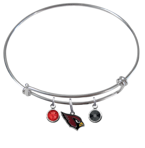 Arizona Cardinals Expandable Wire Bangle Charm Bracelet