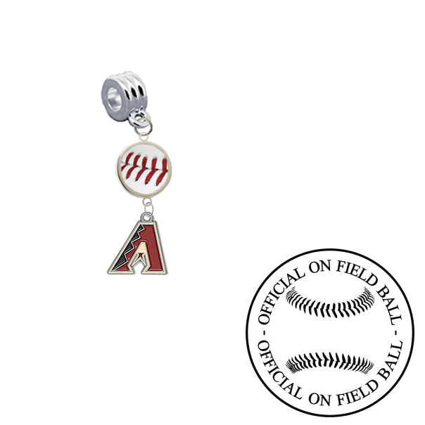 Arizona Diamondbacks On Field Baseball Universal European Bracelet Charm (Pandora Compatible)