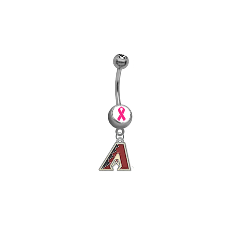 Arizona Diamondbacks Breast Cancer Awareness Belly Button Navel Ring