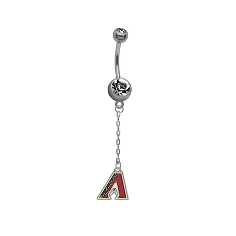 Arizona Diamondbacks Dangle Chain Belly Button Navel Ring
