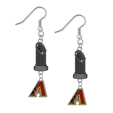 Arizona Diamondbacks MLB World Series Trophy Dangle Earrings