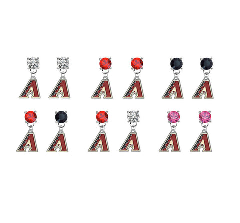 Arizona Diamondbacks MLB Swarovski Crystal Stud Rhinestone Earrings