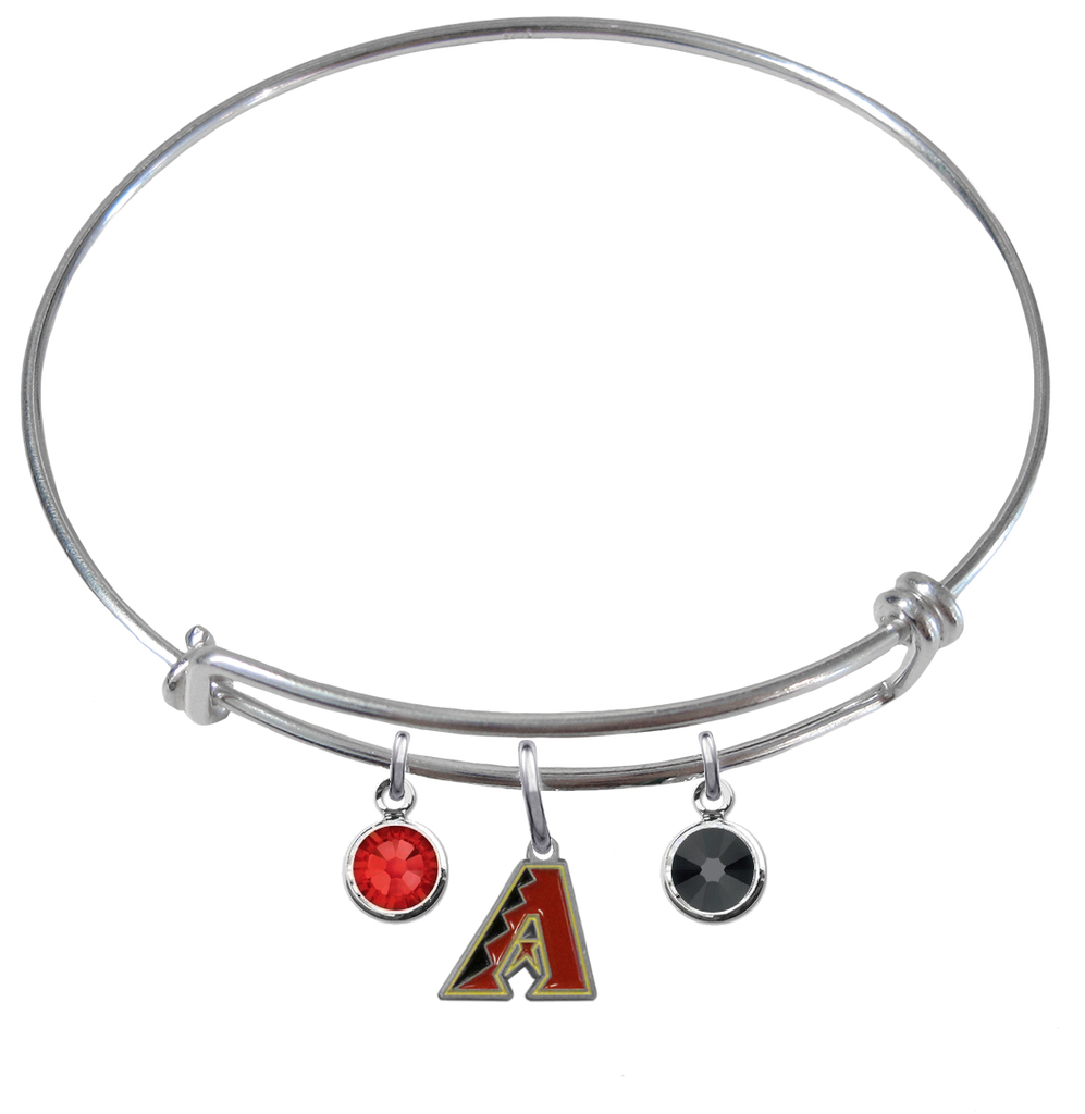 Arizona Diamondbacks MLB Expandable Wire Bangle Charm Bracelet